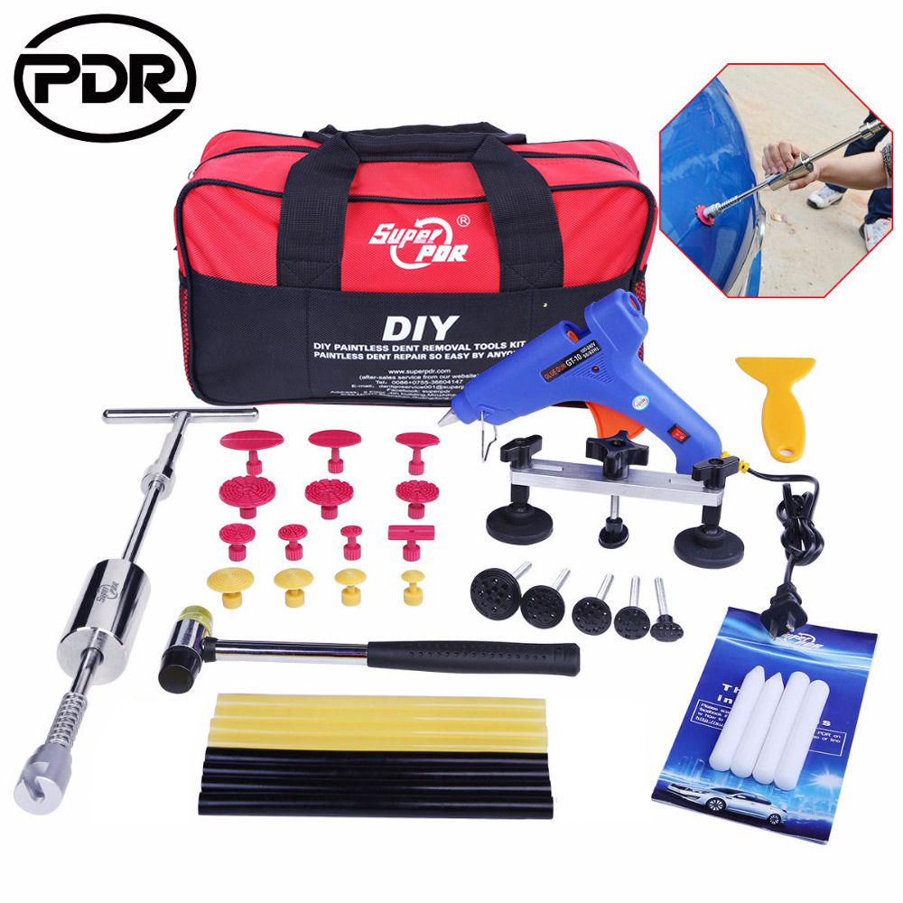 PDR Outils Dent Puller Kit Outil de Supprimer Dents Auto Outil De Réparation Kit De Réparation De Carrosserie Débosselage Glisser Marteau tirer Pont