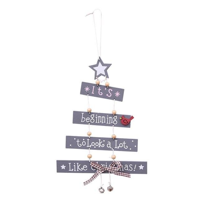 Feliz Navidad Letras Coloridas De Madera Colgantes Decorativos - Decorativos-de-navidad