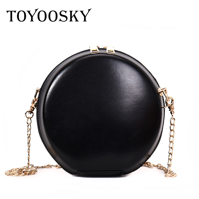 a00880203aca TOYOOSKY New women's round bags pu leather circle box handbags messenger bag  for lady causal shoulder