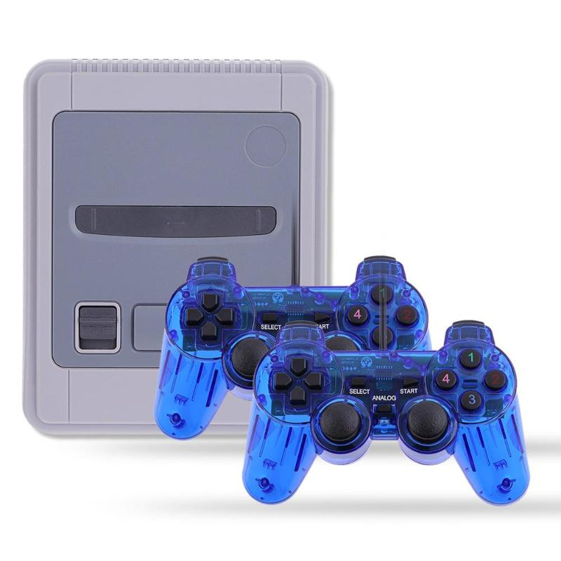 Video Game Console Player with Dual USB Game Handle Controller Joysticks Games Handheld Gaming Player