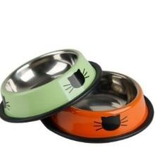 1 шт. миски из нержавеющей стали для корма для собак и кошек, миски для питья домашних животных, принадлежности для домашних животных, противоскользящие миски для собак и кошек, миски для воды, инструменты для домашних животных