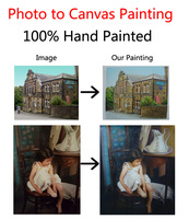 Hand Painted Custom Oil Painting Phototo To Canvas Additional Cost