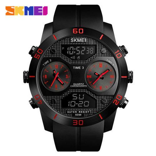 SKMEI Mens Outdoor Sports Multi-Function Pin Buckle Watch Fashion Trend Large Dial Waterproof Electronic Business WatchSKMEI Mens Outdoor Sports Multi-Function Pin Buckle Watch Fashion Trend Large Dial Waterproof Electronic Business Watch