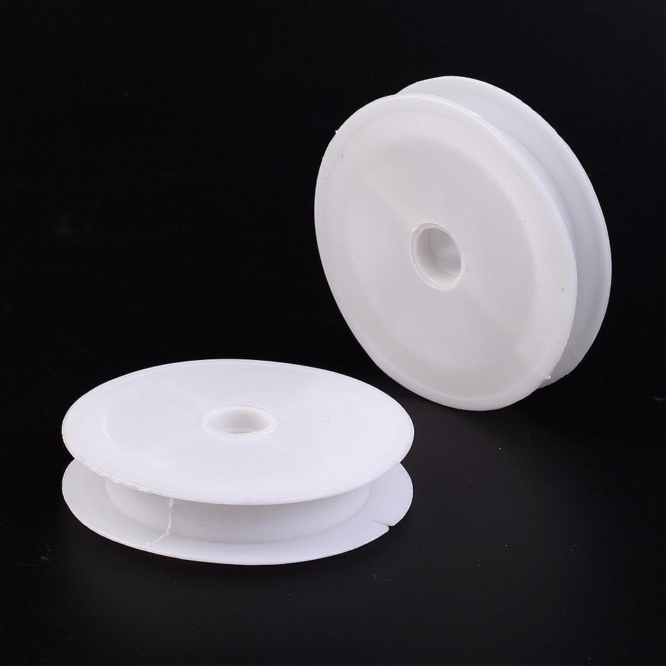 200pcs Plastic Empty Spools for Wire, Thread Bobbins, White, 80x16mm ...