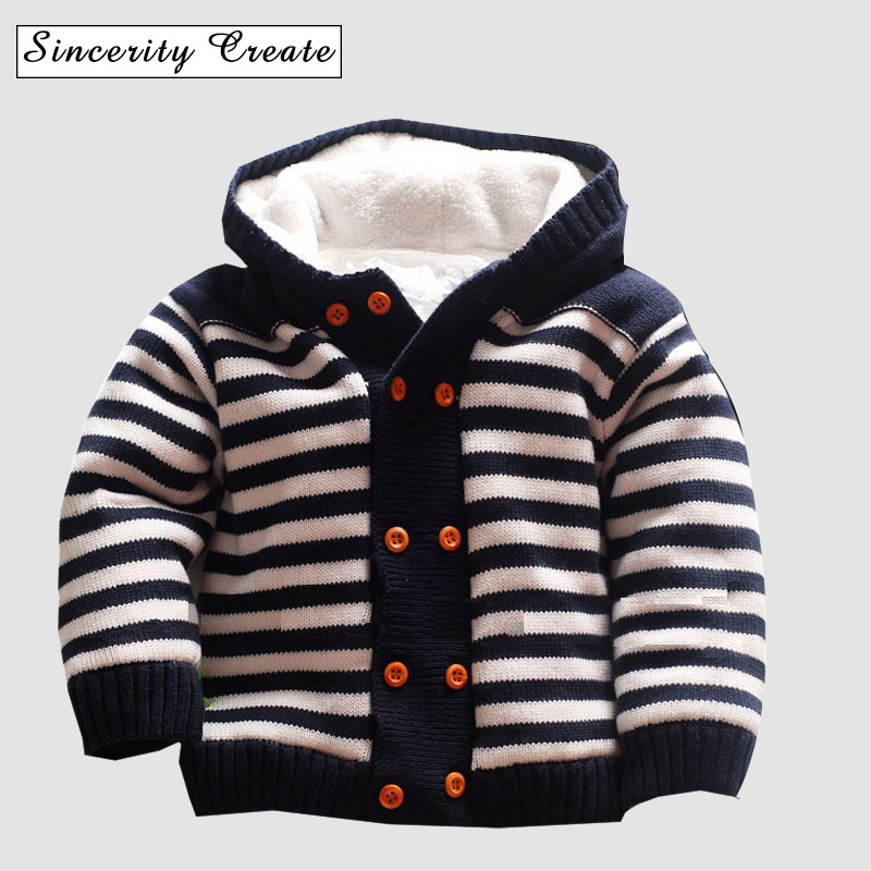 Baby Cardigan Winter Warm Thick Clothes Fleece Knitted Sweater Newborn Boys Girls Snow Kids Clothes Plaid Baby Clothing ABS-1548