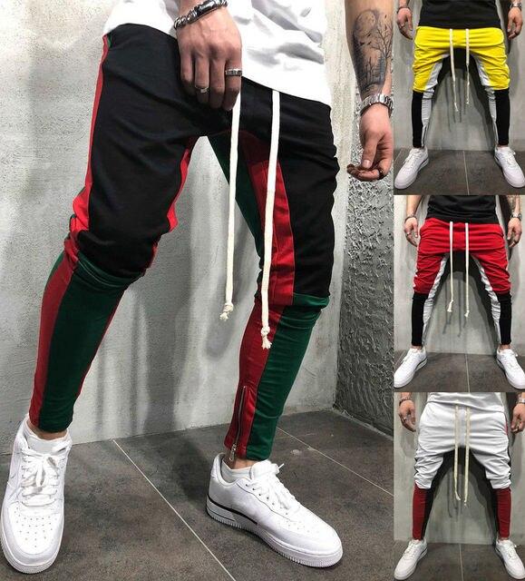 Fermetures À Glissière Jambes Jogger Sur Pantalon Hommes B8EP5w