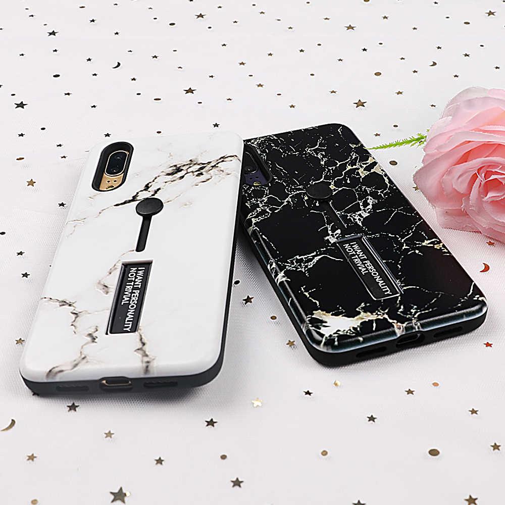 UBERAY винтажный мраморный чехол для Huawei P10 P20 Plus NOVA 3 3e 3i Honor 10 кольцо держатель буквы ТПУ + PC телефон задняя крышка подарки