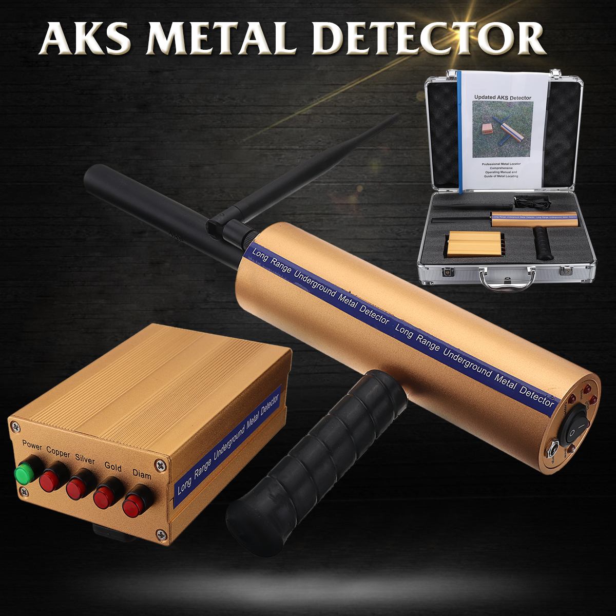 AKS Metal detectors detector handheld accurate positioning detection system metal finder for silver copper Gold exploration стоимость
