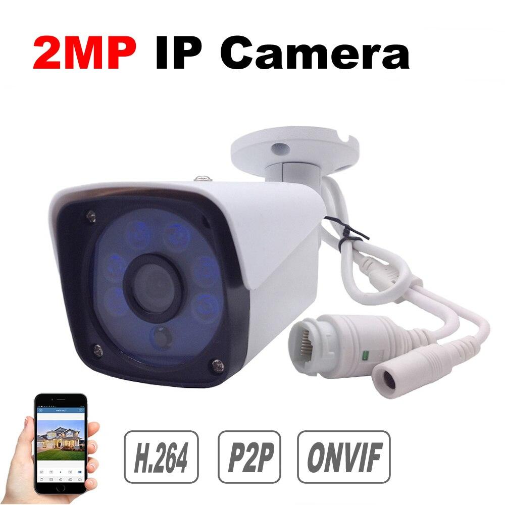 IP Камера 1080 P Onvif P2P облако 2MP безопасности Камера для систем видеонаблюдения Водонепроницаемый телефон приложение открытый Ночное видение