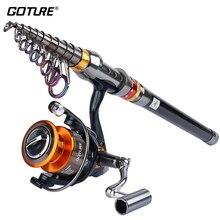 Goture Рыбная ловля катушка и стержень 2.7 М 3.0 М 3.6 М телескопический Рыбная ловля стержень + 11BB спиннингом GT 4000 Combo