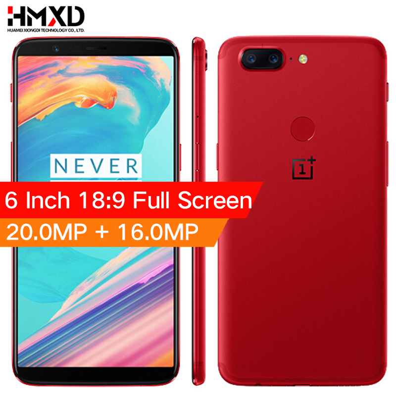 Stock Oneplus 5T 5 T 6 GB 64GB Snapdragon 835 Octa Core Smartphone 6.01