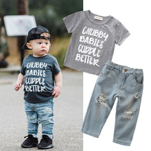 Toddler Boy Clothes Summer Children Clothing Boys Sets Costume For Kids Clothes Sets T-shirt+Jeans Sport Suits 1 2 3 4 5 6 Years