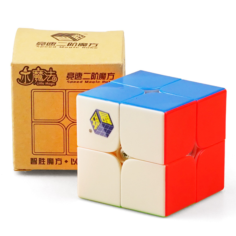Yuxin Peu Magic Speed Cube 2x2x2 Bouger Jouets Pour Enfants Stickerless Cube