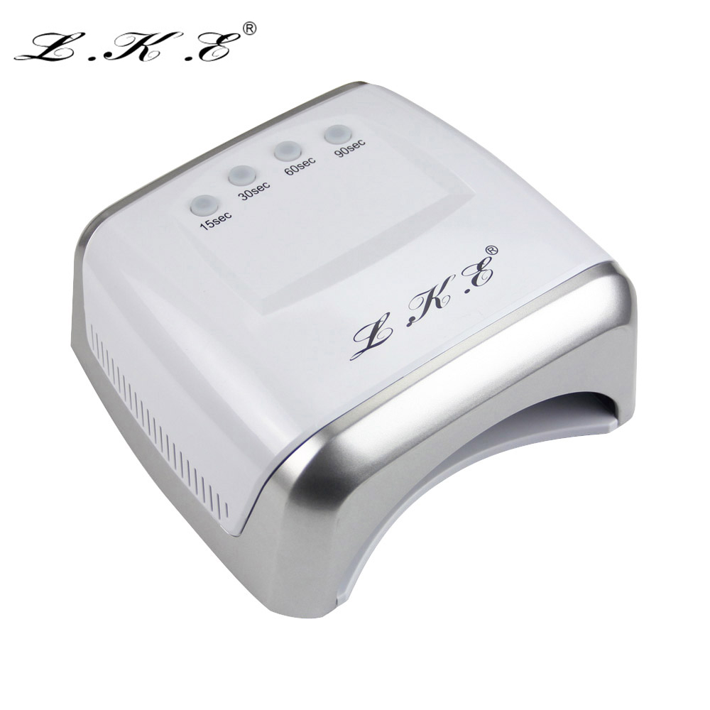 LKE 60W White LED UV Lamp Nail Dryer 365-405nm Gel Polish Curing Machine with Timer Auto-induction Nail Art Manicure Tool Gift тональный крем lke 1 fessional leb00337