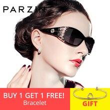 07e7e0af5 PARZIN ÓCULOS de Marca De Luxo Do Vintage Óculos De Sol Mulheres Polarizada  Óculos de Sol