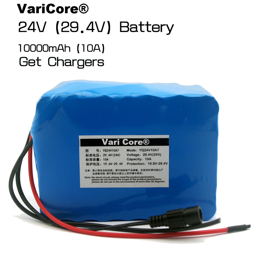 24V <font><b>10Ah</b></font> 7S5P 18650 Battery li-ion battery <font><b>29.4v</b></font> 10000mAh electric bicycle moped /electric/lithium ion battery pack+2A Charger image