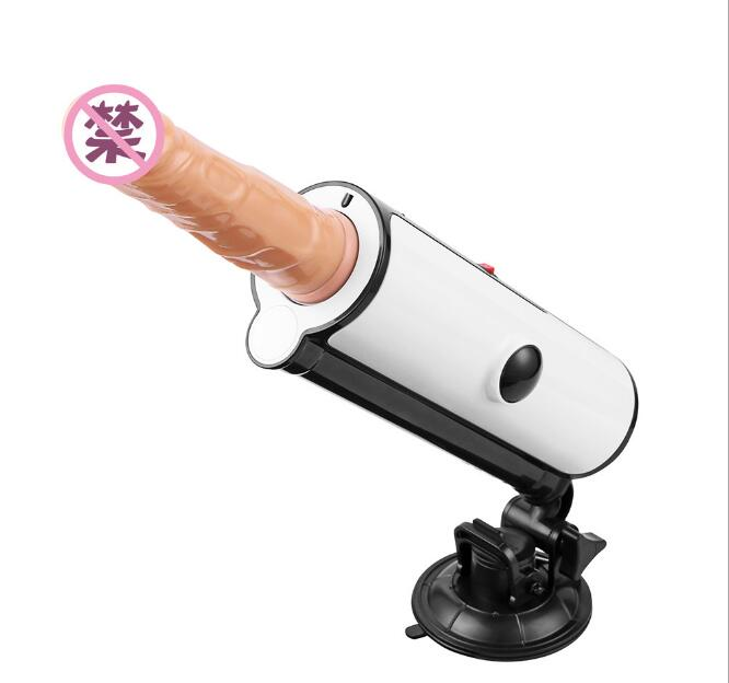 Automatic Retractable Sex Machine Female Masturbation Pumping Gun Heating up Dildo Thrusting Adjustable Sex Toys For Women Gay easy love l male masturbator automatic sex machine hands free retractable masturbation cup piston telescopic sex toys for men