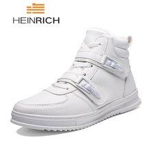 5abc3d07 HEINRICH/зимние мужские кроссовки, кожаная повседневная обувь, Мужская  Уличная Удобная теплая обувь на