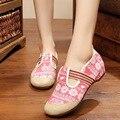 Национальная Вышивка Женская Обувь зебра старый Пекин вышитые ткани холст мягкие square dance обувь одного размер 34-41