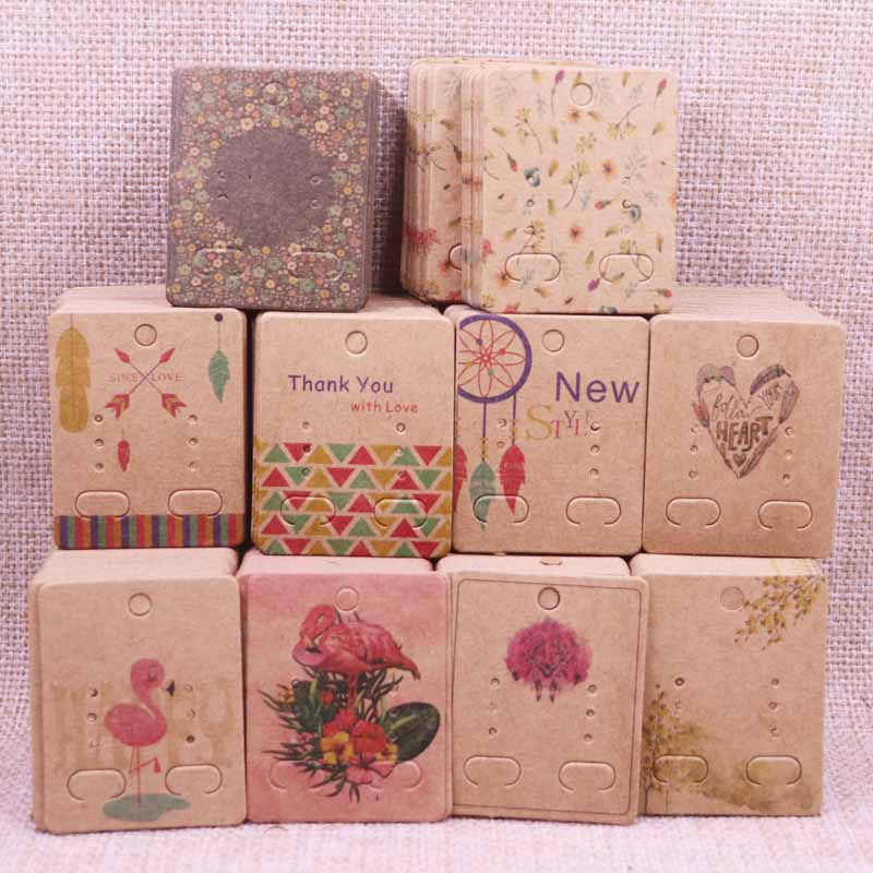 Earring Package-Cards Jewelry 100pcs 4x5cm DIY