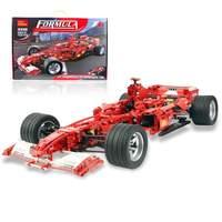 Decool Racing Car Formula Ferrari 1:8 Model 3335 1242pcs action figure toys DIY Bricks toys for Children legoing technic F1 set