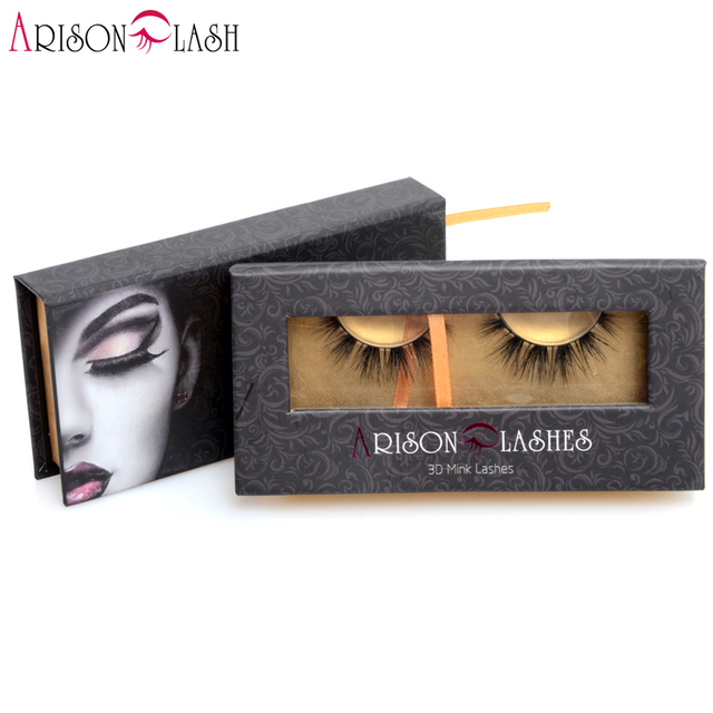 New Beauty 1 Pair 3D Mink Eyelash 100% Real Mink Fur Handmade Crisscross False Lashes Extension Lillian Arison for Makeup