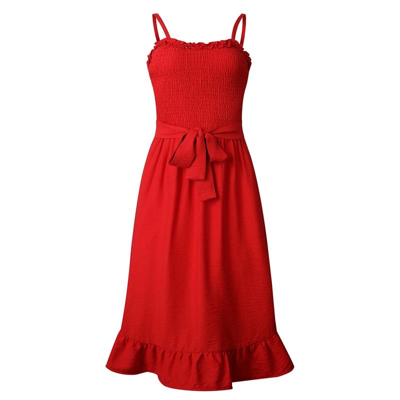 ruffles pleated boho summer beach dress (14)