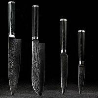 FINDKING дамасский Набор ножей дюймов 8 дюймов Нож шеф повара дюймов 7,5 дюймов santoku дюймов 5 дюймов утилита 3,5 нож для очистки овощей
