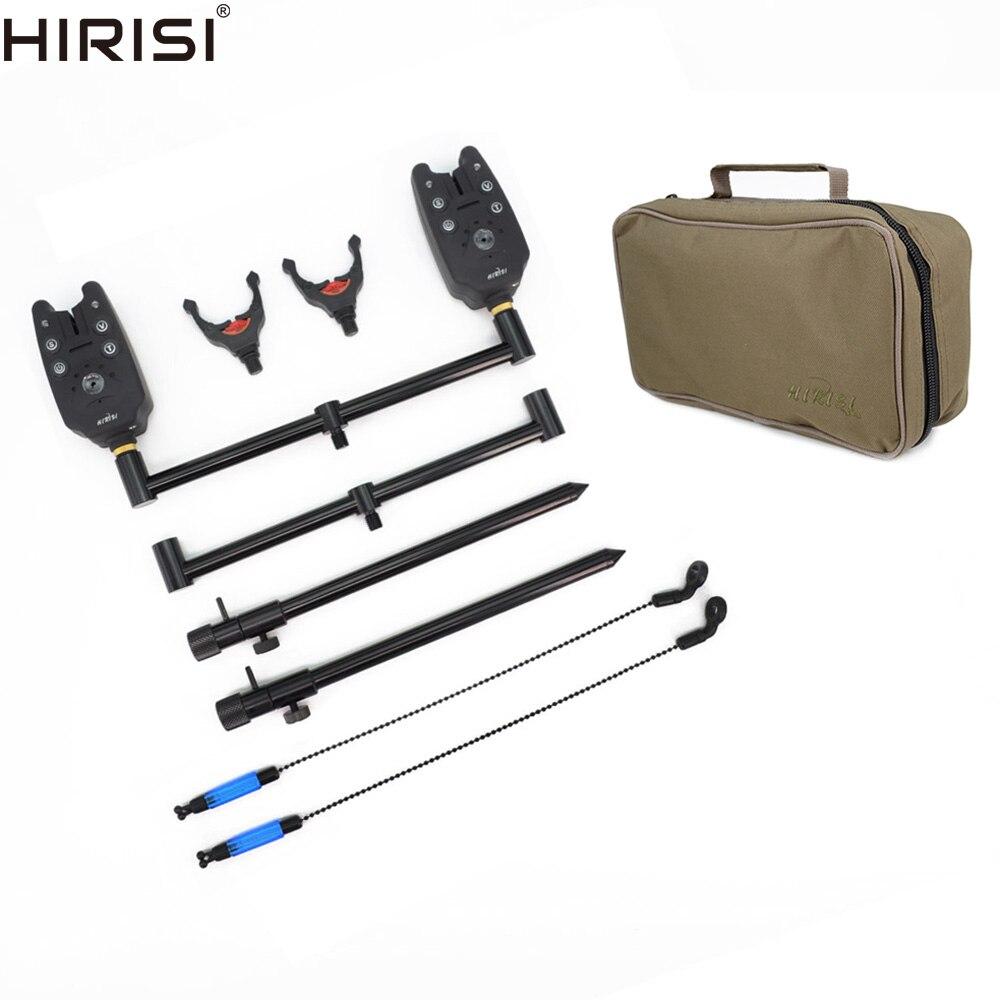 Carp Fishing Rod Pod Set with Bank Stick and Buzz Bar for 2 Fishing Rods Fish Bite Alarm and Bobbin