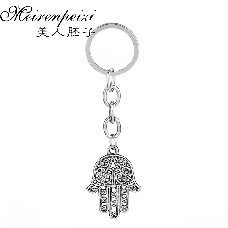 Hamsa Hand Pendant Keyring Boho Keyring Hand of Fatima Yoga Key Chain Hindu keyring Bag Personalised Gift