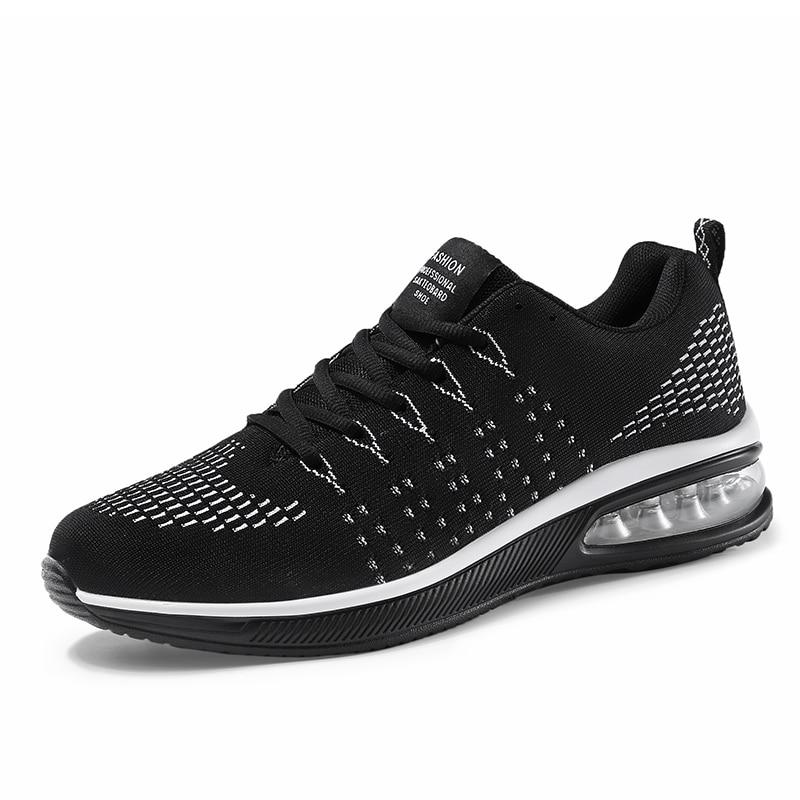 Ao Homens Respirável Sneakers 55505 vermelho Desporto Ar cinza Correr Preto Casuais Formadores De Sapatos Flats Malha Nova Par Calçados Caminhada Esportivos Livre wB7gEpzq