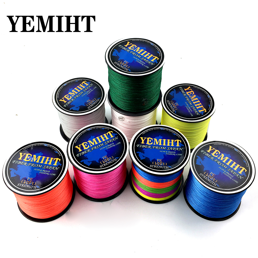 YEMIHT Braided Fishing Line 8 Strands 4 Strands 300M Japan Multifilament Braided for Carp Fishing Saltwater Freshwater