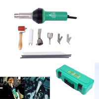 (Shipping From US) 1600W Hot Air Gas Plastic Welder Welding Gun + 4 Nozzles + Rods w/ Storage Case
