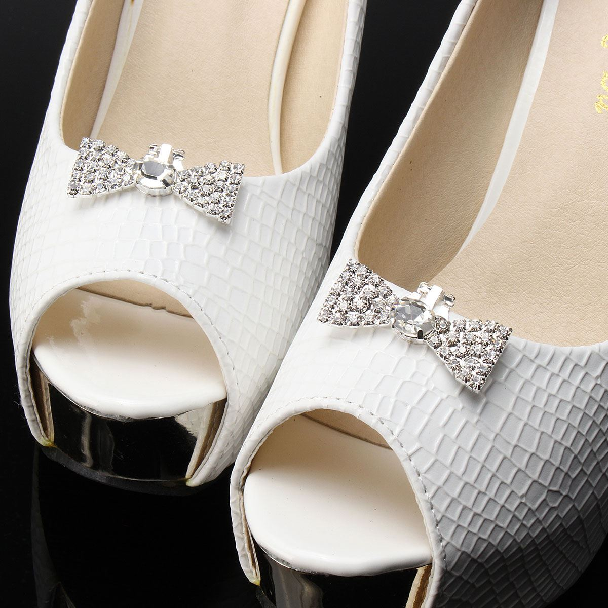 1 Pai Rhinestone Shoe Clips Crystal Shoe Jwerly Decor Accessories Bridal high-heel Wedding Shoes Decoration Buckle Clip Charms