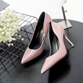 frosted Vintage Sexy women Pointed Toe High Heels sandals Women Pumps Shoes 2016 Brand New Design Less Platform Pumps spring OL