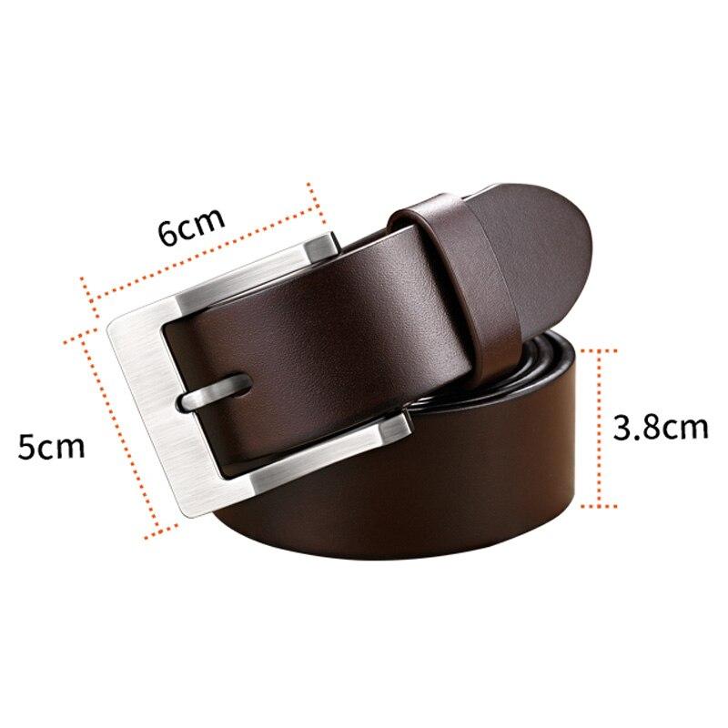 4b30ee66fd44 WilliamPolo peau de vache véritable ceintures en cuir pour hommes marque  Sangle mâle boucle ardillon vintage