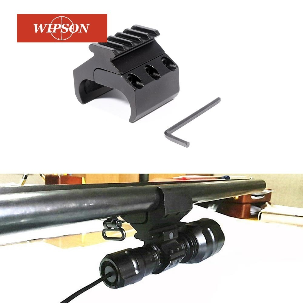 WIPSON 20mm Picatinny Weaver Rail Base Adapter Laser Sight Base Flashlight Bipod Mount For Horizontal Double Barrel Rifle