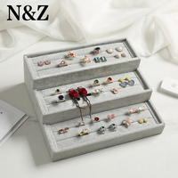 N&Z New 3 Layer Earrings Jewelry Display Stand Holder Organizer Ear Showcase Plate Jewelry Box W 23