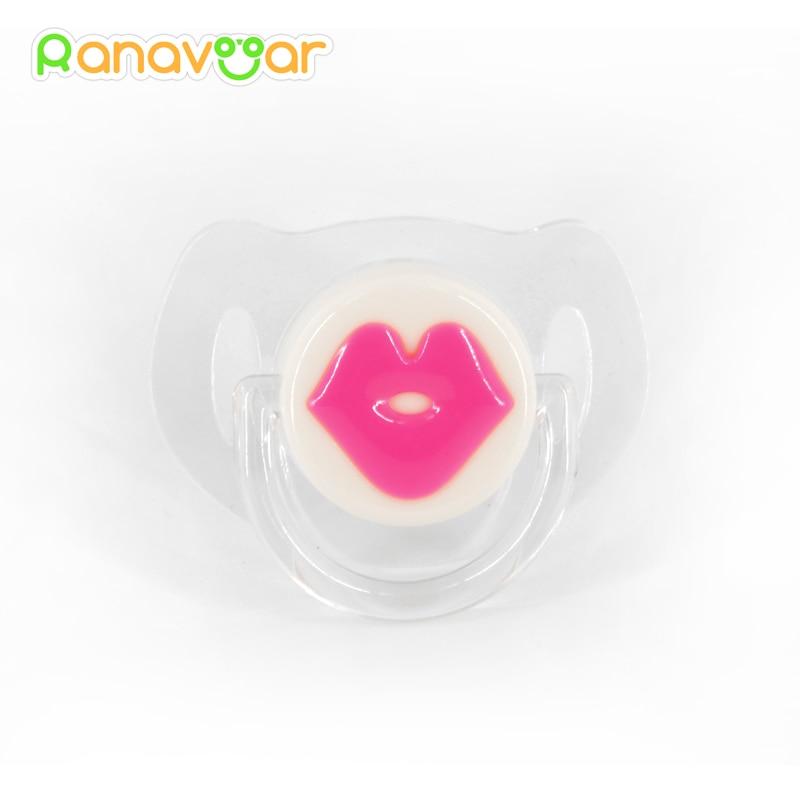 Dječji crveni usne poljupci dudice silikonske smiješne slatkišne šale šale poticaja za bebe