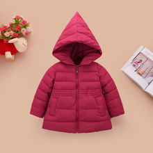 2-6Y High quality 2016 new winter clothes kids outerwear baby girls parkas fashion Snow Wear babys Hoodies clothing hot sale