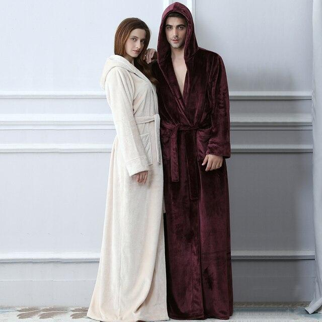 3583915ed0ae Amoureux-Plus-La-Taille-Capuche-extra-Long -Flanelle-Chaud-Peignoir-Hommes-Femmes-paississement-D-hiver -Kimono.jpg 640x640.jpg