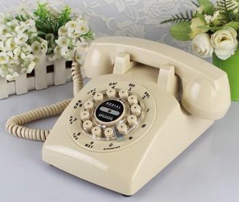 Antyczny telefon moda vintage rustykalny domowy moda głośnomówiący telefon tanie i dobre opinie jiansu Przewodowe Telefony K500