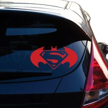 Batman and Superman Decal Sticker # 450 (8 X 15.8, Red) car stickers decals