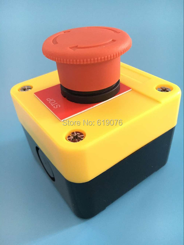 e-stop switch,silver contacts emergency stop push button switch 1NC