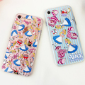Relief Emboss Phone Cases For iPhone 6 7 Plus Disneys Colorful Cartoon Figure Alice's Adventures in Wonderland Minnie 090118
