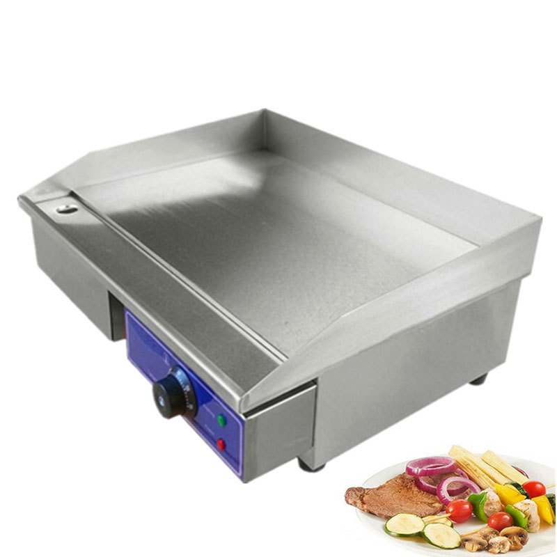 все цены на 3000W Commercial Flat Griddle Stainless Steel Electric Griddle All Flat Pan Electric Grill онлайн
