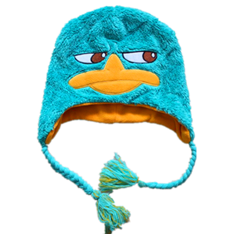 Winter Hats Perry the Platypus/Agent P Costume Plush Hat Women Men Kids Caps Gorro Masculino Bones Gorras   Skullies     Beanies