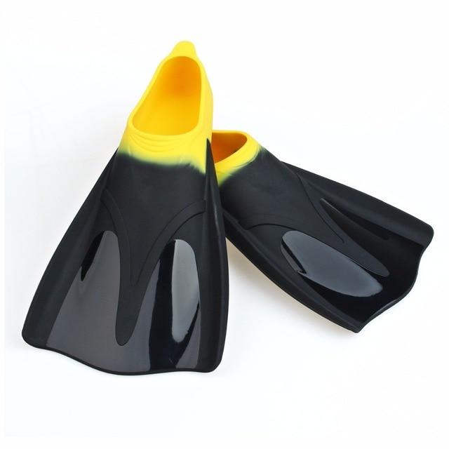 Adjustable EVA TPR Long Diving Swimming Fins Webbed Flippers Webbed  Training Pool Submersible Men Women boots shoes bota 5eca2fd84d