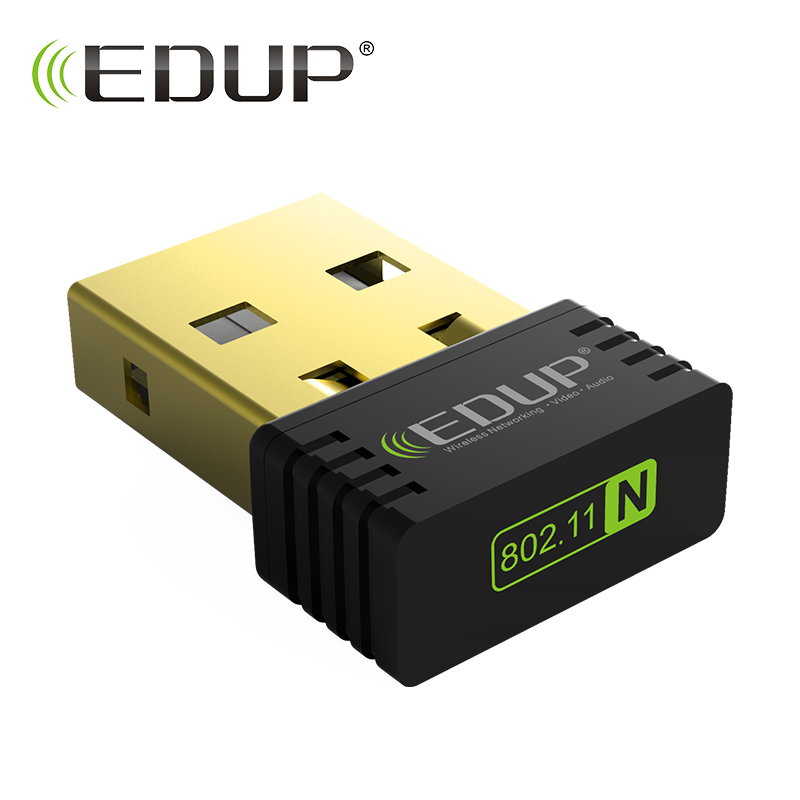 EDUP usb wifi usb adapter 150mbps wireless 802.11b/g/n high quality wi-fi receiver ethernet adapter network card for computer usb 2 0 ieee802 11b g n 150mbps 2dbi wi fi adapter for azskybox f3 f4 f5 opoenbox x5 black