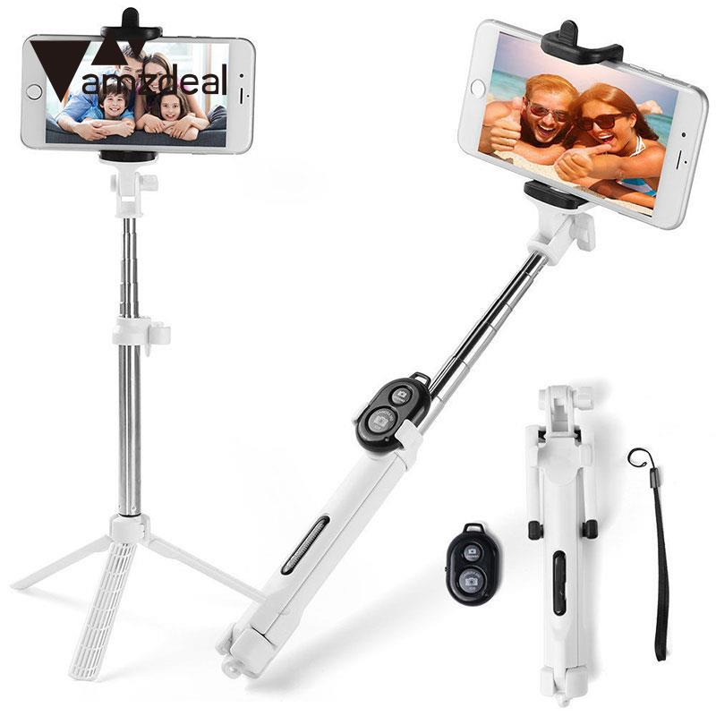Portable Bluetooth Selfie Stick Monopod Tripod Remote Controller Battery Shutter Stable Compact Light for Phone